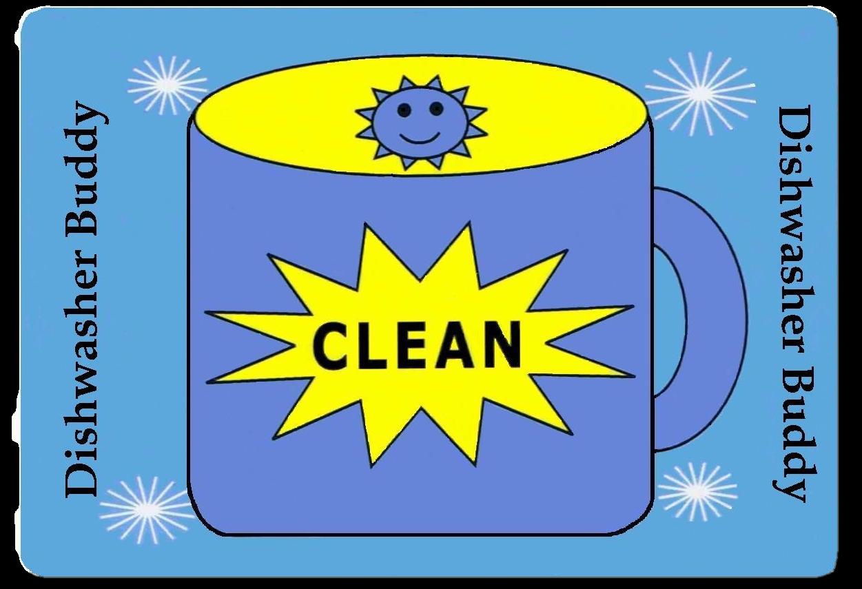 Dishwasher buddy clean sign