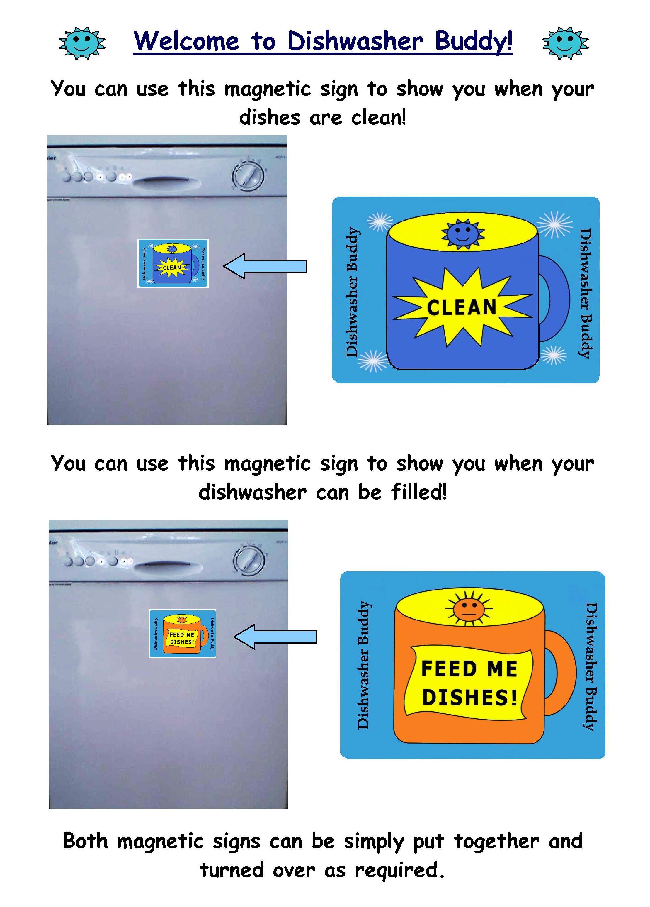 Dishwasher Buddy handout